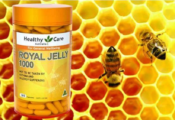 Sữa ong chúa Royal Jelly 1000mg Heathy Care 365 viên